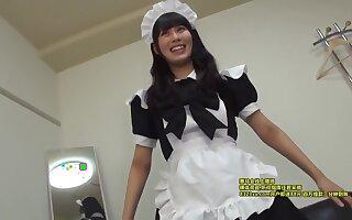 Erika 19yo Slim Student Maid-cosplaying