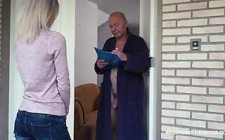 Crazy old fart gets to fuck a pretty young unladylike and that girl is so sweet