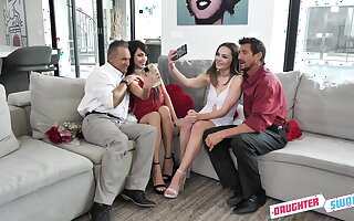 Super kinky foetus swapping connected with Aften Opal, Hime Marie and stepdads