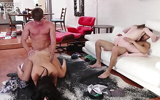 Young swinger couples around lay foursome fuck - Rachel ford