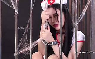 Comradeship up a lovely  china woman in a cage bdsm - Big tits