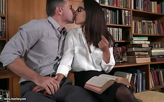 Sexy personal secretary Ginebra Bellucci loves when say no to slit is stretched