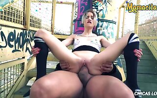 Young Spanish Babe Risky Public Light of one's life Less Big Dick Boyfriend - Chica S, Ramon Nomar And Mey Madness