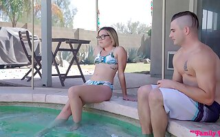 Best friends Aften Opal and Katie Kush have a nice threesome