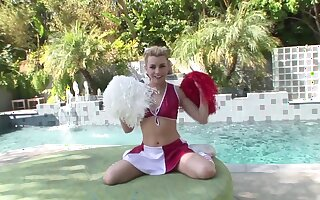 Cheerleader gets her dose be advisable for cock in seductive POV