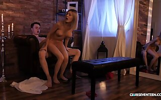 Busty teen titty fucked by her BF