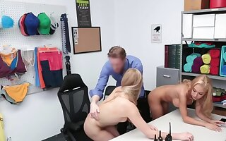Blonde woman and stepdaughter punished apart from cock be advisable for shoplifting
