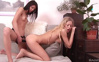 One on one lesbian sex action with Alicia Angel and Kelsie