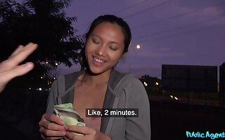 Asian Pinay teen likes savings and cock in the same equation