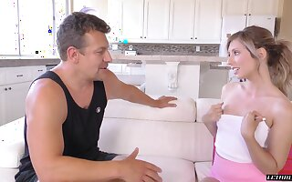A conversation give her stepdad takes sexy turn and that cutie loves gumshoe