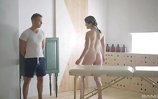 Video of hot irritant girlfriend Leena having intercourse upstairs the bed. HD