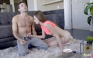 Naughty stepsister Kyler Quinn gets into pants of her cramming stepbrother