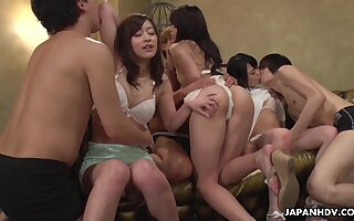 Wondrous cutie Maria Ono just loves zero barricade horny orgy distraction