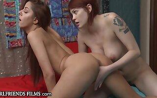 Redhead Teens Caught Watching Lesbian Porn - Vanna Bardot, Bree Daniels coupled with Aidra Old Harry