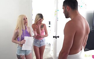 Stepsister's naughty friend Kenzie Reeves sits on face brazenly